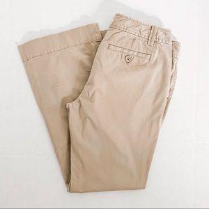 Ann Taylor Loft Marisa khaki pants bootcut 8 EUC